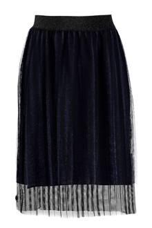 plissé Sabana rok donkerblauw