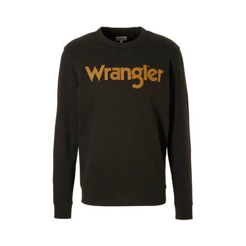Wrangler sweater met logo zwart kopen