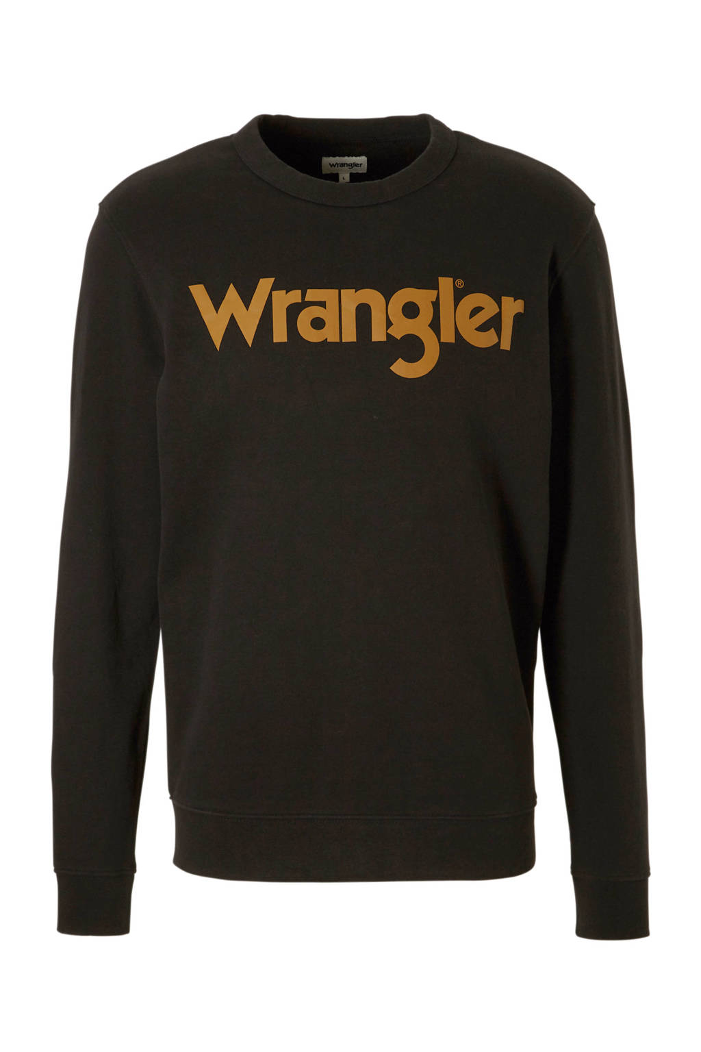 Wrangler sweater met logo zwart, Zwart