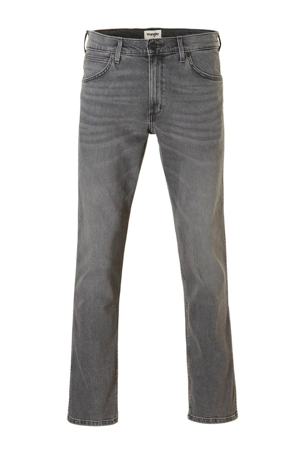 Wrangler Greensboro regular straight fit jeans, Gun Smoke