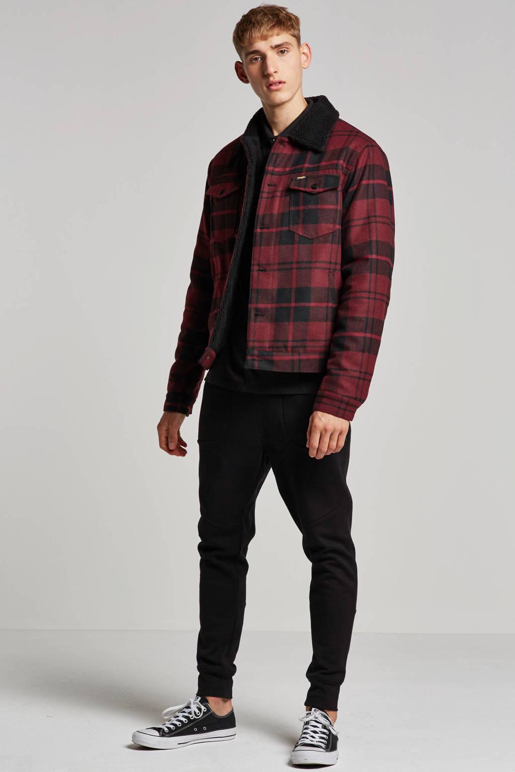 Wrangler jas met wol, Rood/zwart