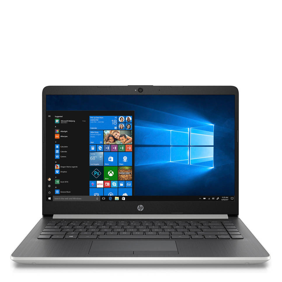 HP Notebook 14-cf0335nd 14 inch Full HD laptop, Zwart, zilver