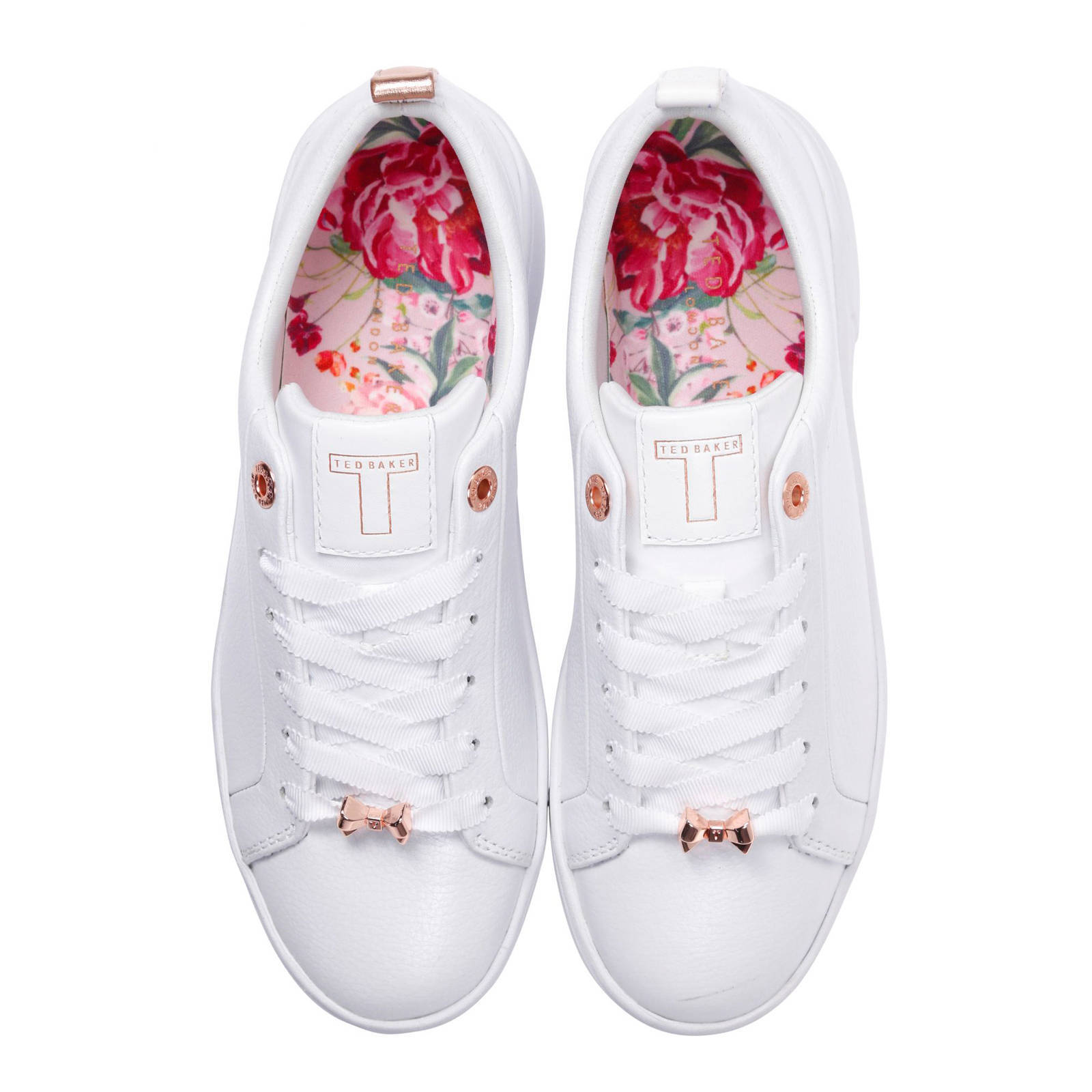 first look later uk availability Ted Baker leren sneakers Gielli wit | wehkamp