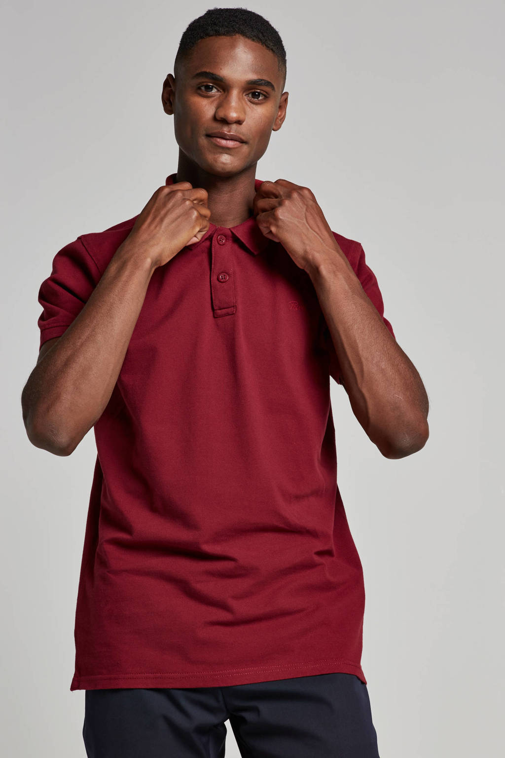 Petrol Industries regular fit polo, Donkerrood