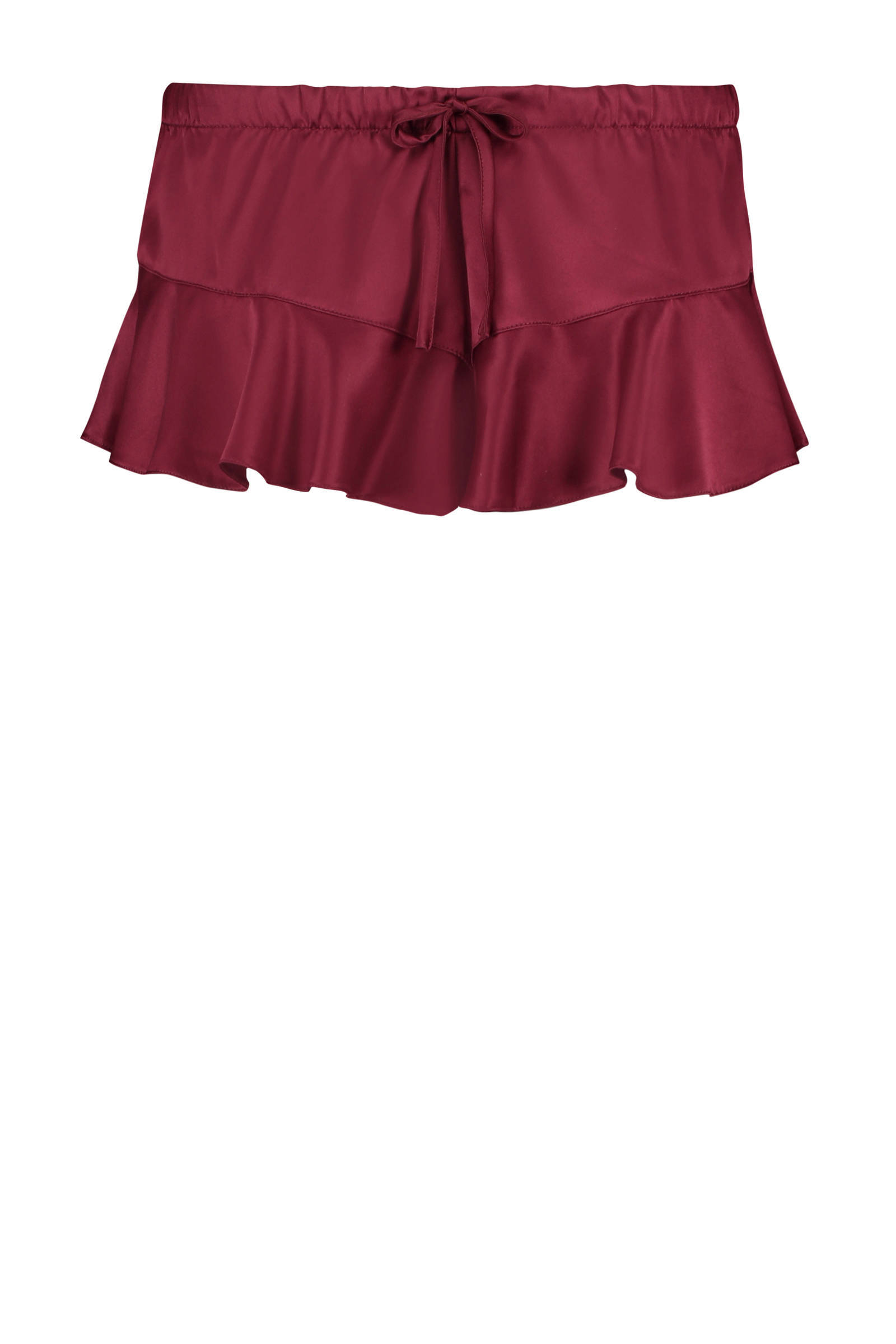 Hunkemöller satijnen pyjamashort rood (dames)