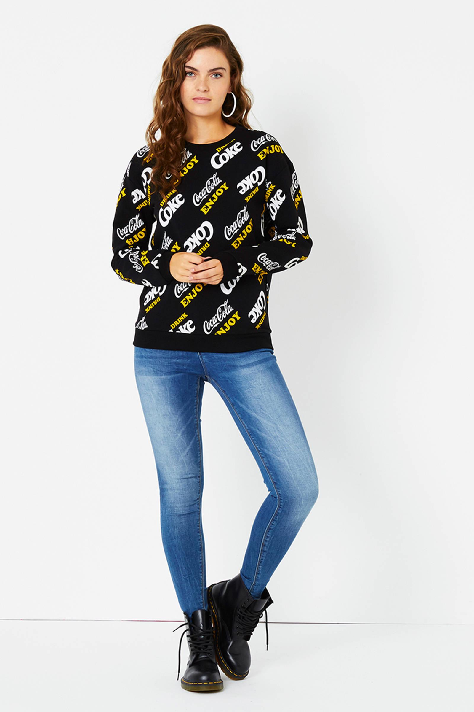 CoolCat sweater met all over Coca Cola print wit | wehkamp