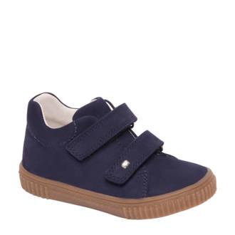 vanHaren Elefanten  nubuck sneakers met klittenband blauw