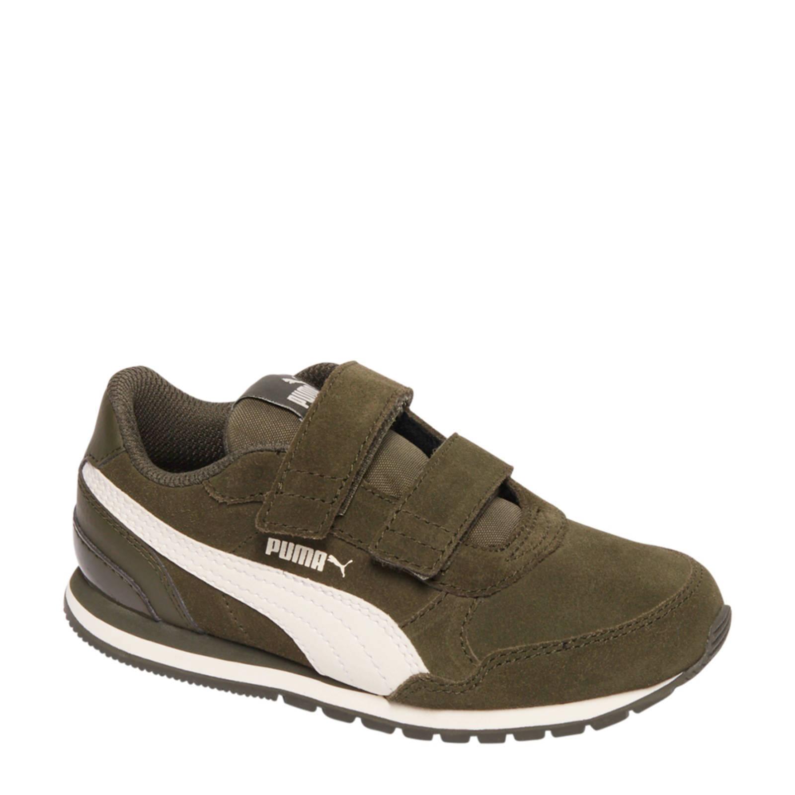 Puma ST Runner suède sneakers groen | wehkamp
