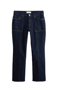 cropped fit flared jeans
