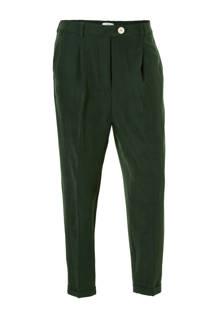 cropped pantalon donkergroen