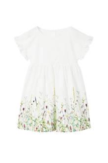 jurk met bloemenprint wit