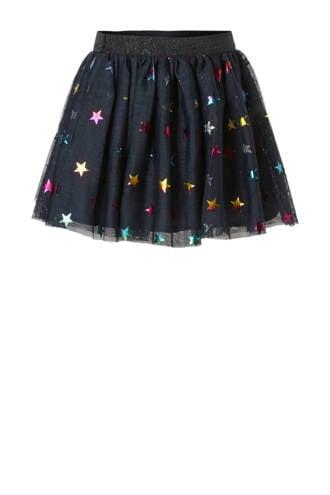 MINI tule rok met sterren donkerblauw