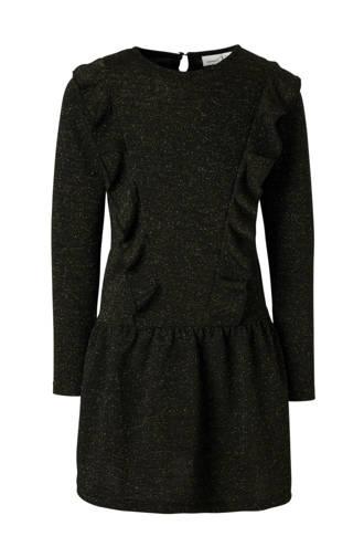 KIDS jurk Samalou met glitters zwart