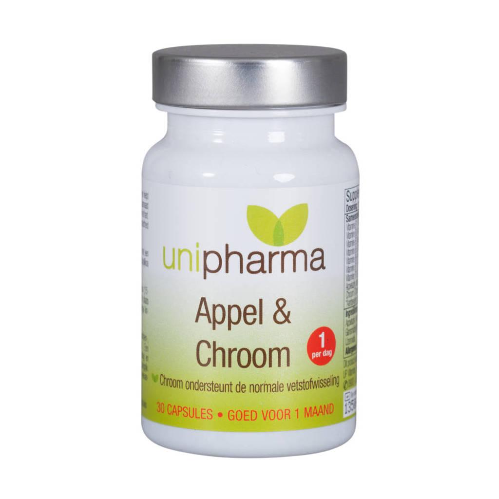 Unipharma Slank appel & chroom - 30 capsules