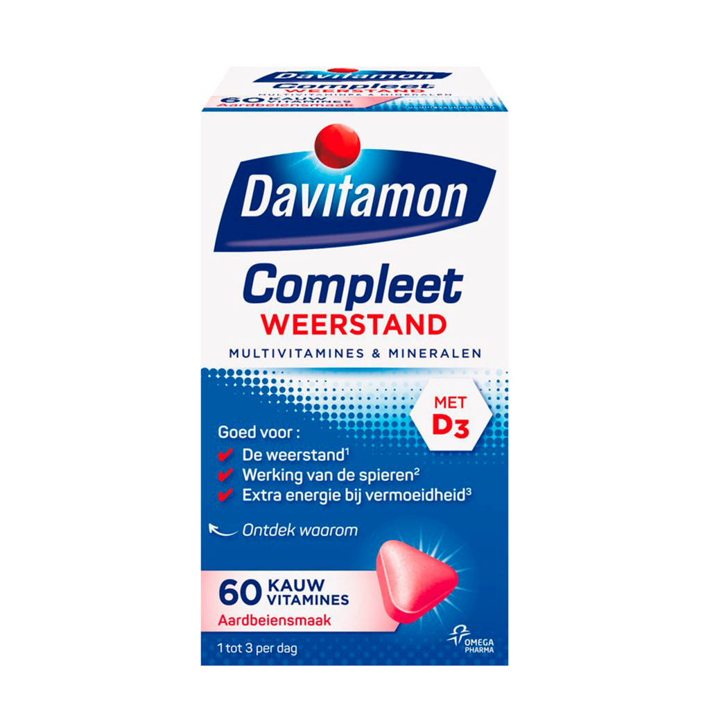 Davitamon Compleet weerstamd kauwvitamines - 60 stuks
