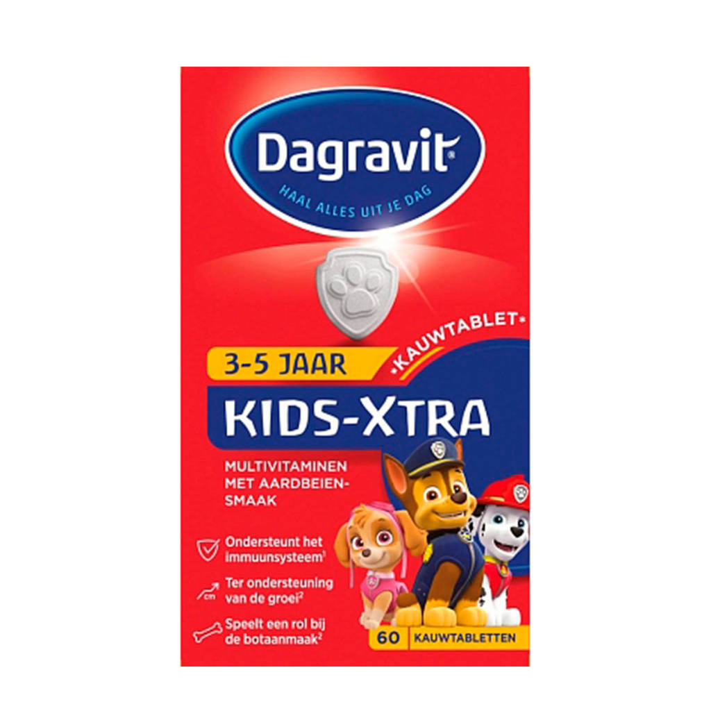 Dagravit Multi kids framboos 2-5 jaar - 60 stuks
