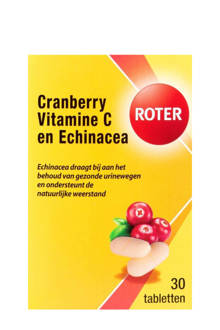 Roter Blaas Cranberry & Vitamine C - 30 tabletten