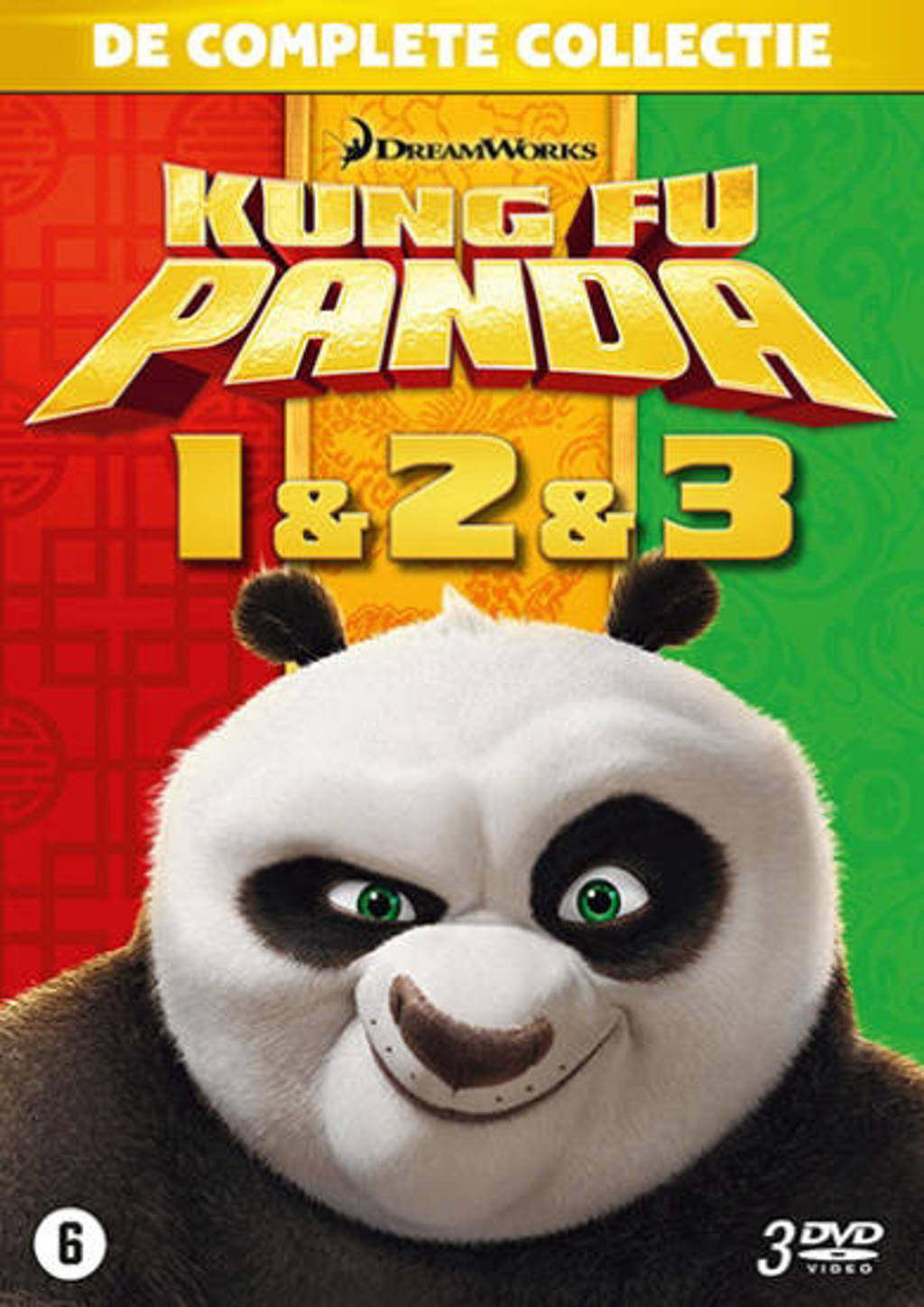Kung fu panda 1-3 (DVD)