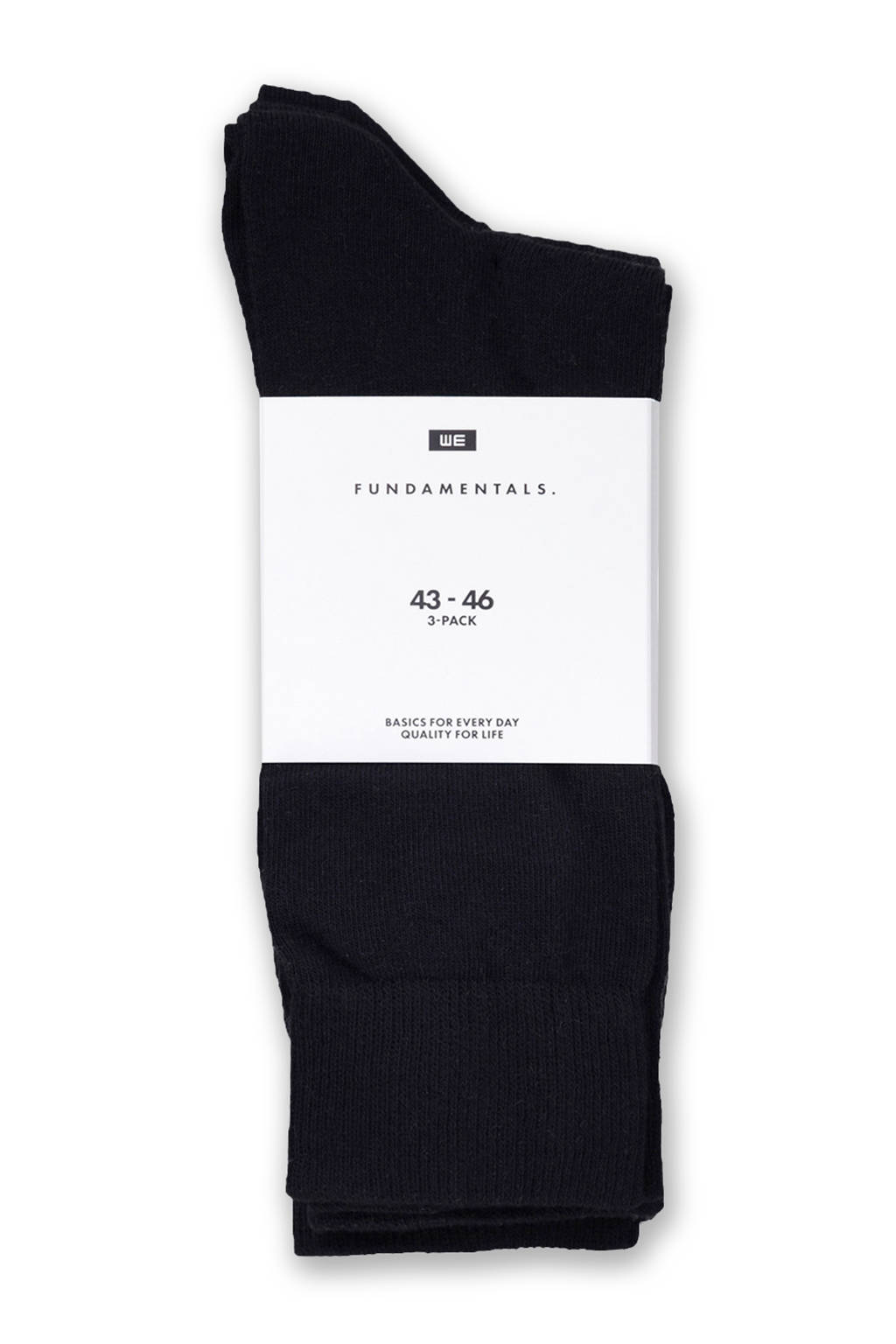 WE Fashion Fundamental sokken - set van 3, Marine