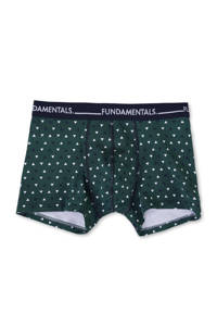WE Fashion Fundamental boxershort, Donkergroen