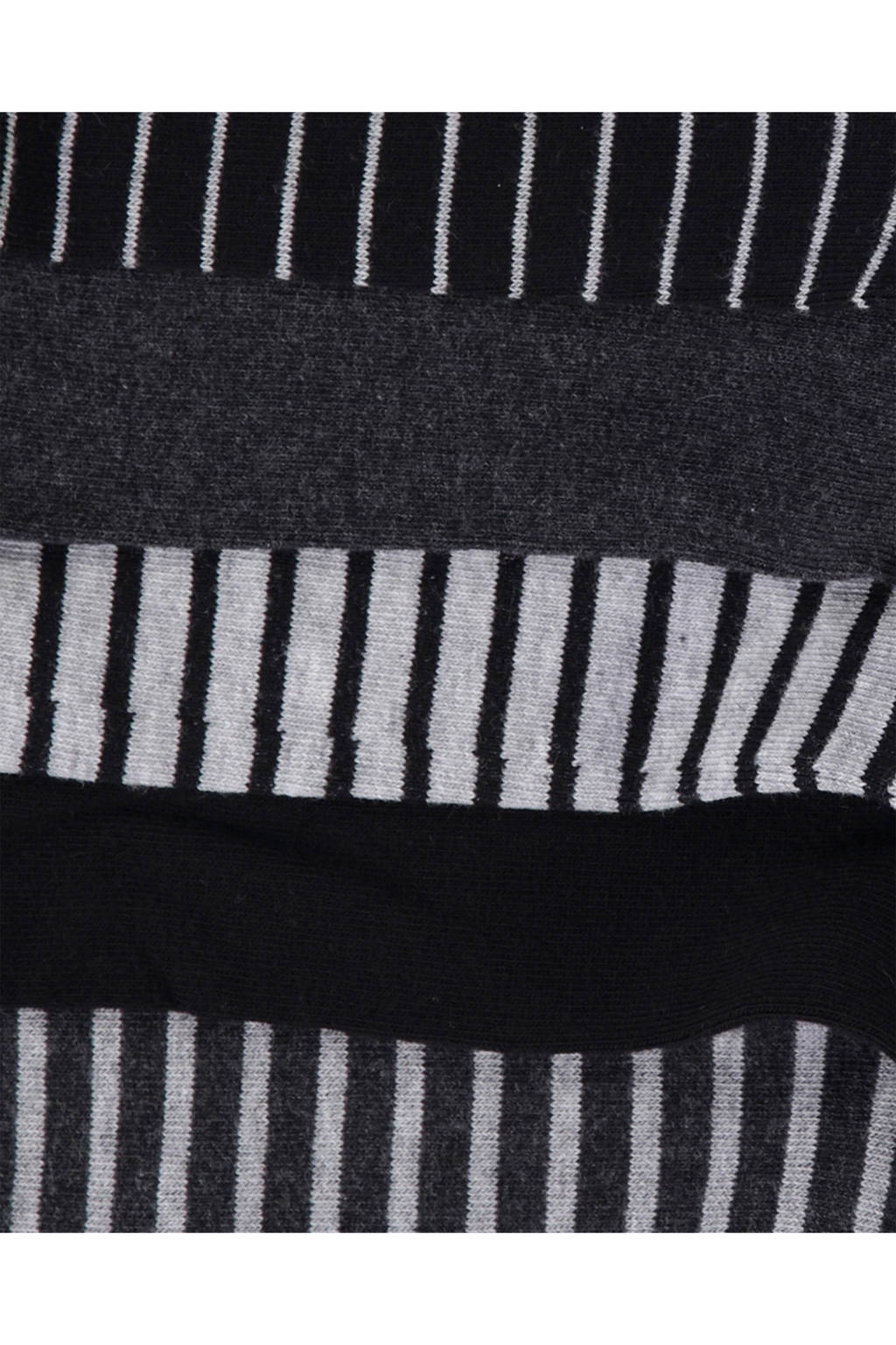 WE Fashion Fundamental sokken - set van 5, Grijs/zwart