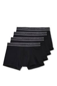 WE Fashion Fundamental boxershort (set van 4), Zwart