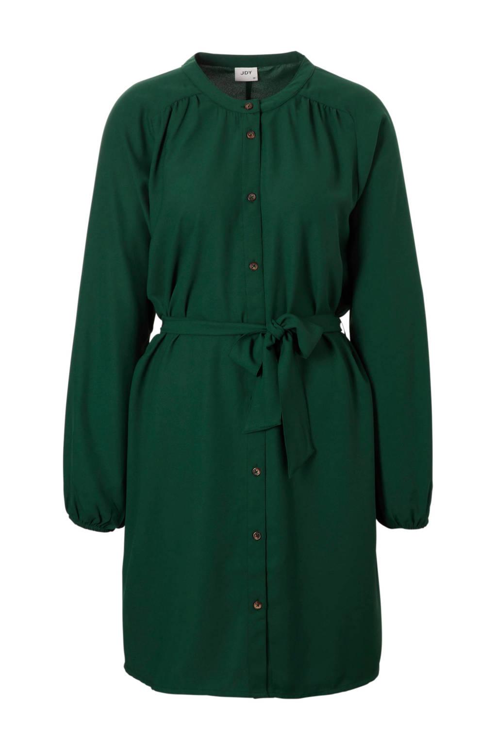 JACQUELINE DE YONG blousejurk met bind ceintuur, Groen