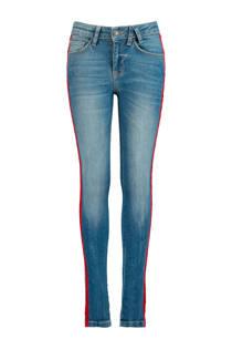 America Today Junior slim fit jeans Emily met zijstreep (meisjes)