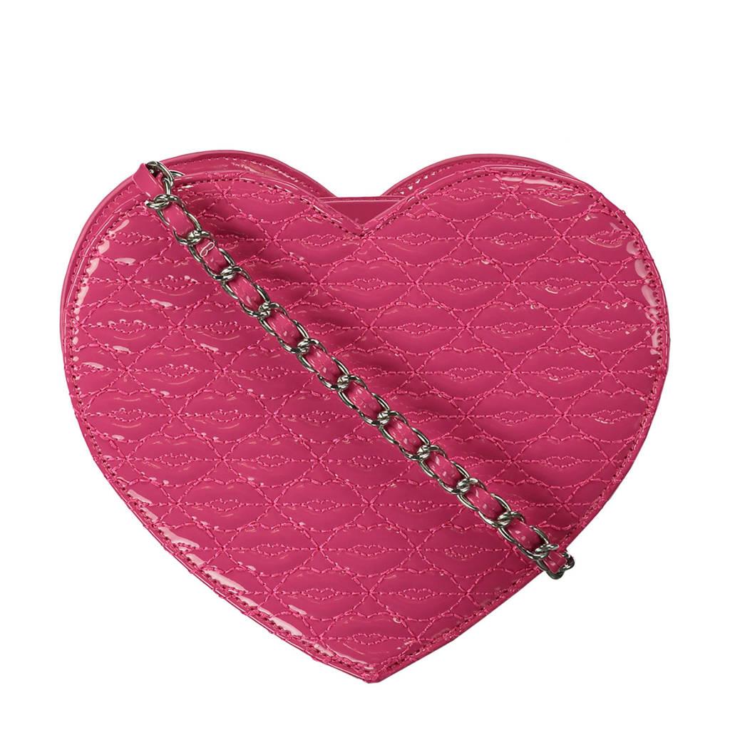 CoolCat imitatieleren schoudertas roze, Roze