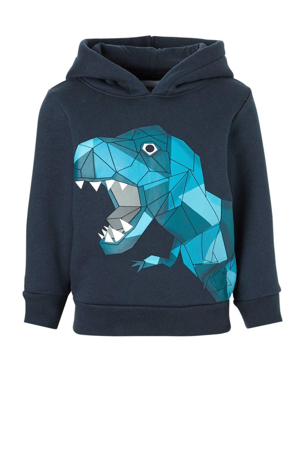 C&A Palomino hoodie met printopdruk donkerblauw, Donkerblauw