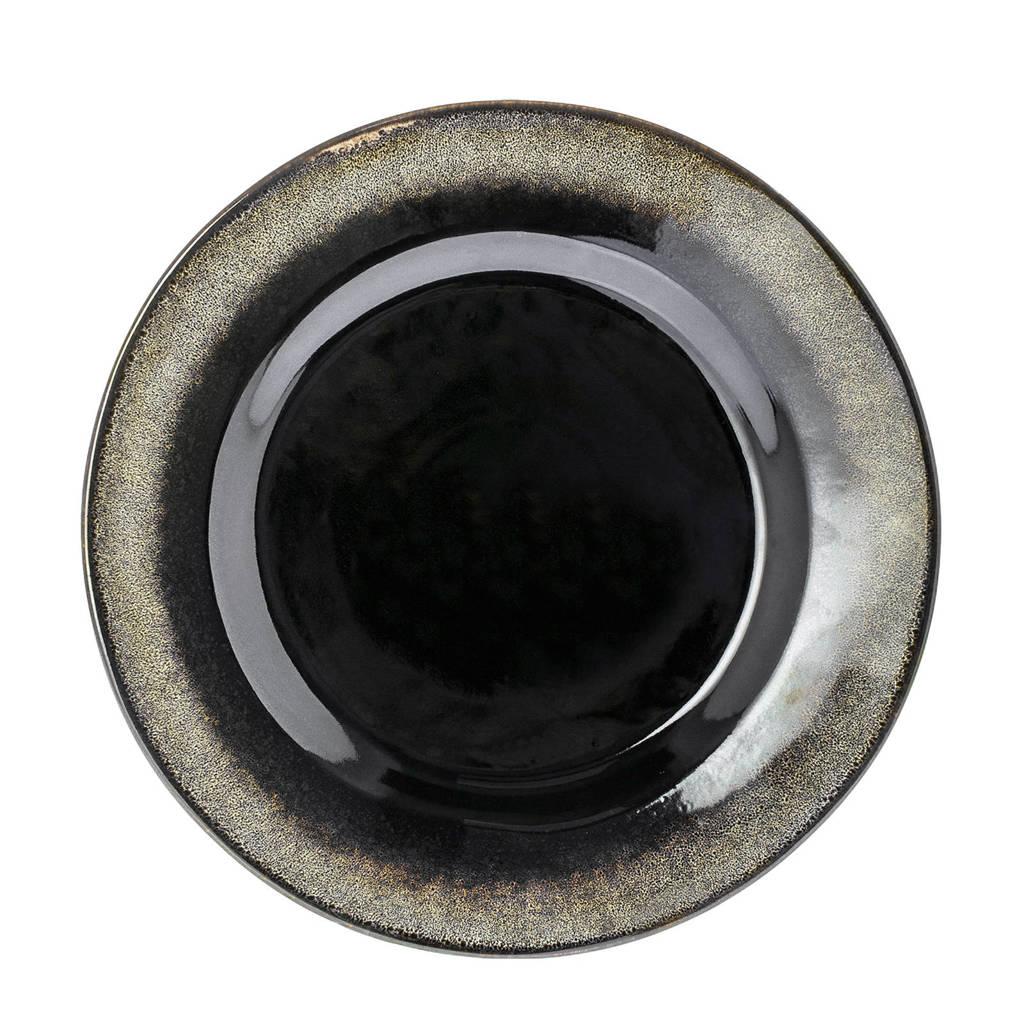 Riverdale Onyx dinerbord (Ø28,5 cm), Zwart/bruin
