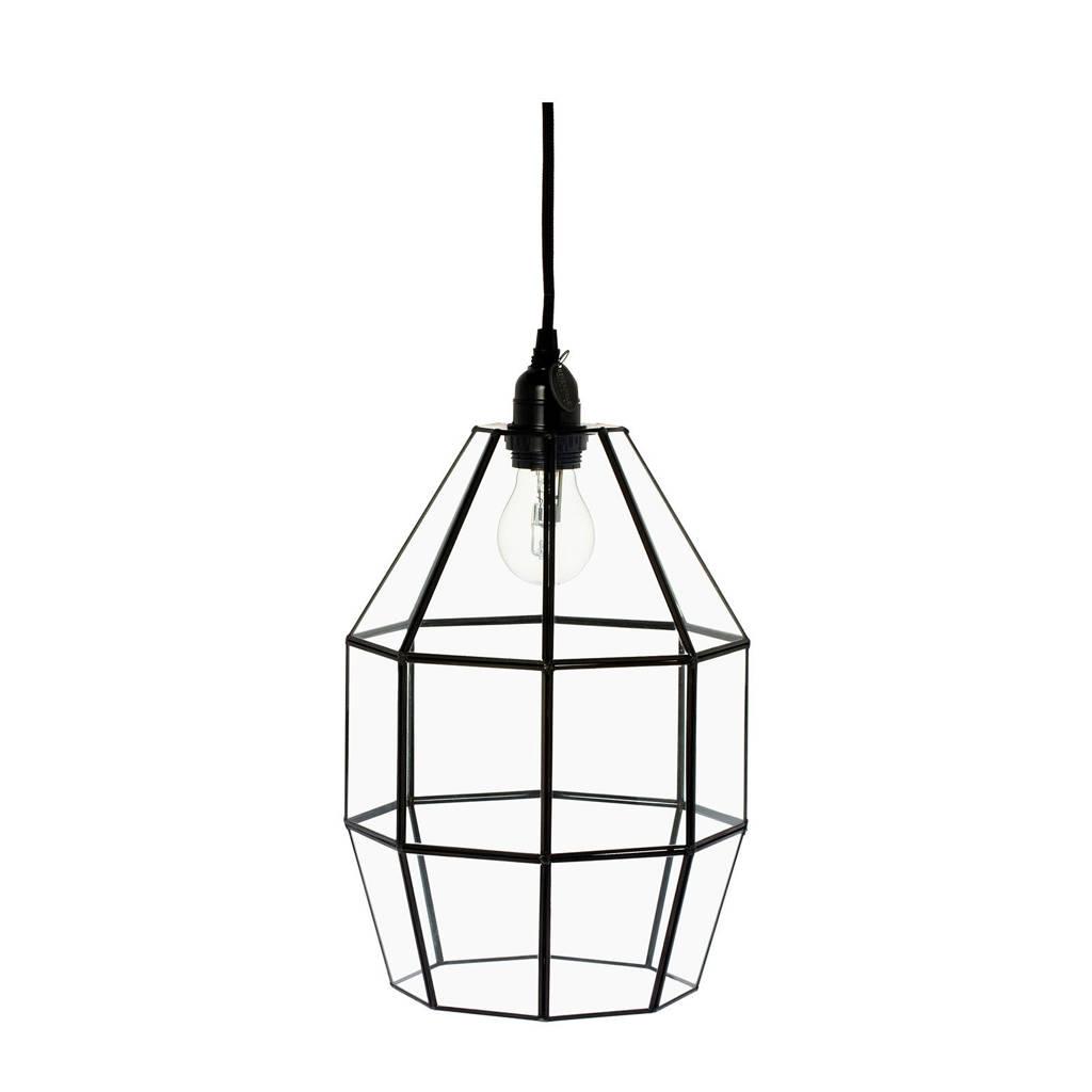 Riverdale hanglamp Felix, Zwart, 23x23x37,5 cm