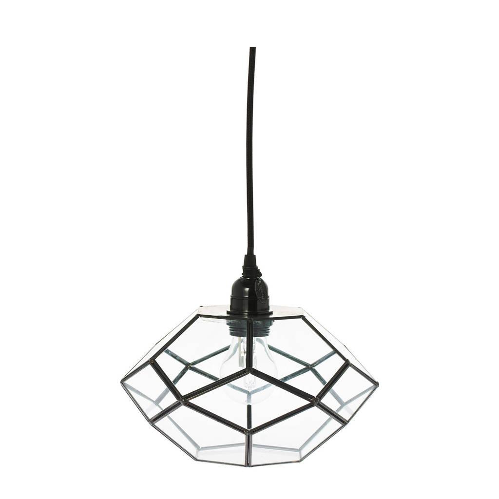 Riverdale hanglamp Felix, Zwart, 25x25x20 cm