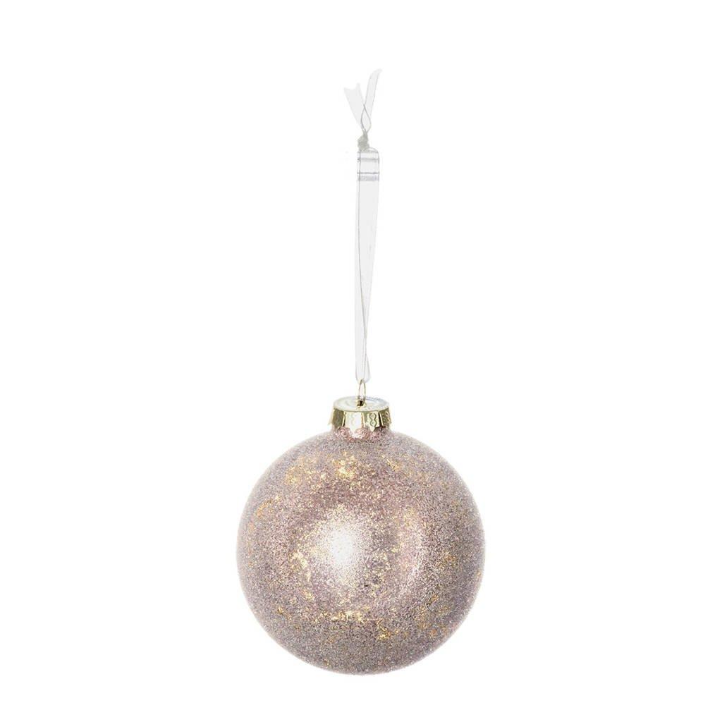 Riverdale glazen kerstbal (Ø8 cm), Roze