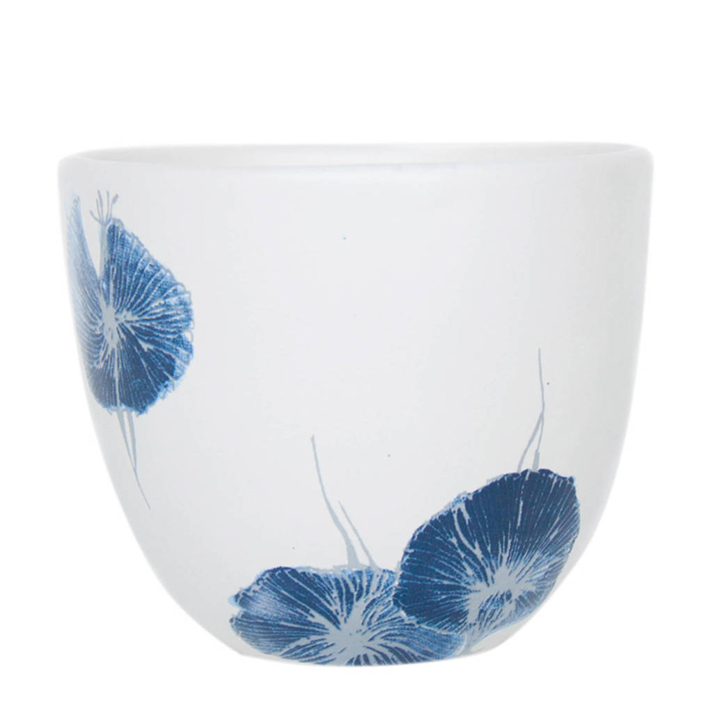 Urban Nature Culture Misaki mok (Ø8 cm), Blauw/wit