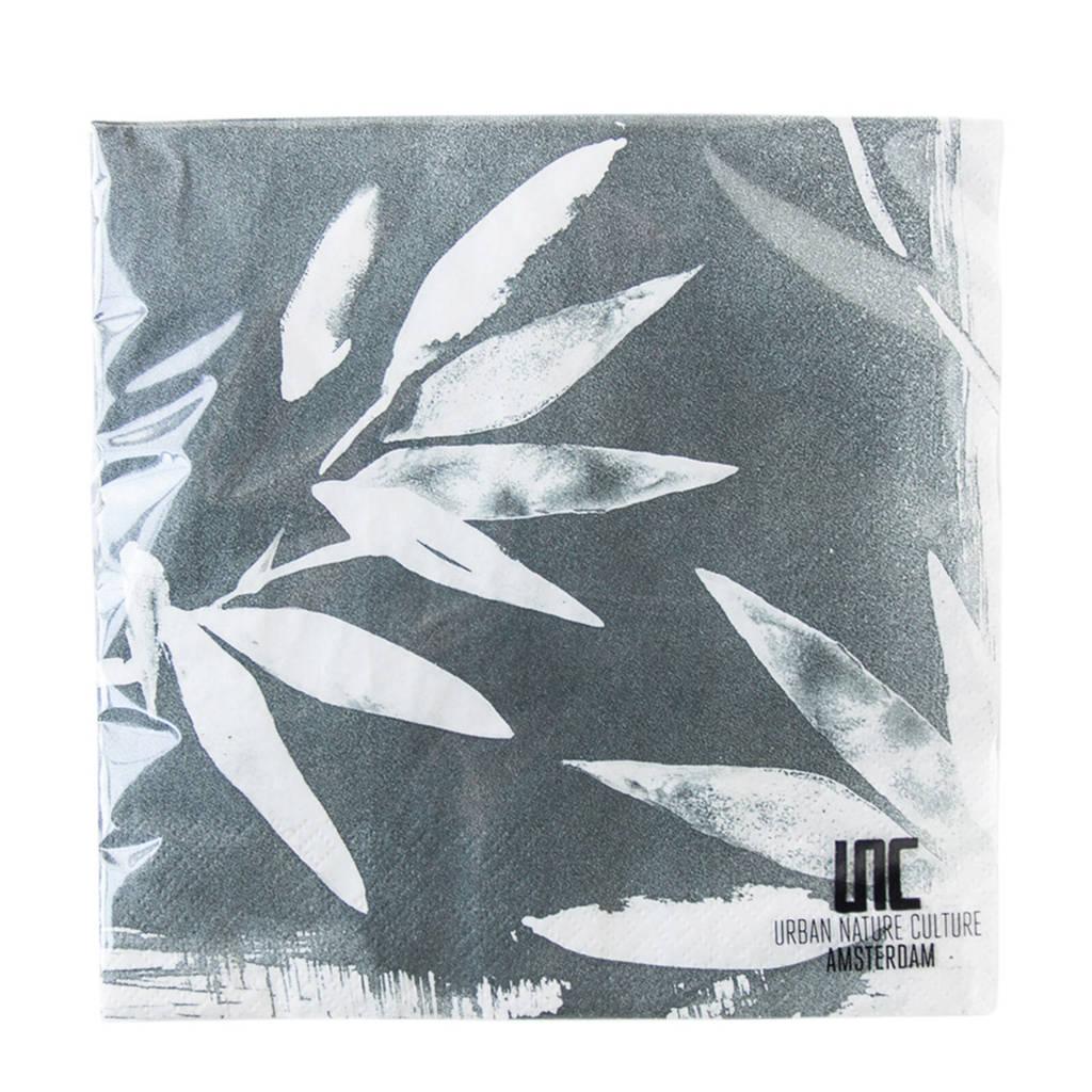 Urban Nature Culture papieren servetten (33x33 cm), Groen/wit