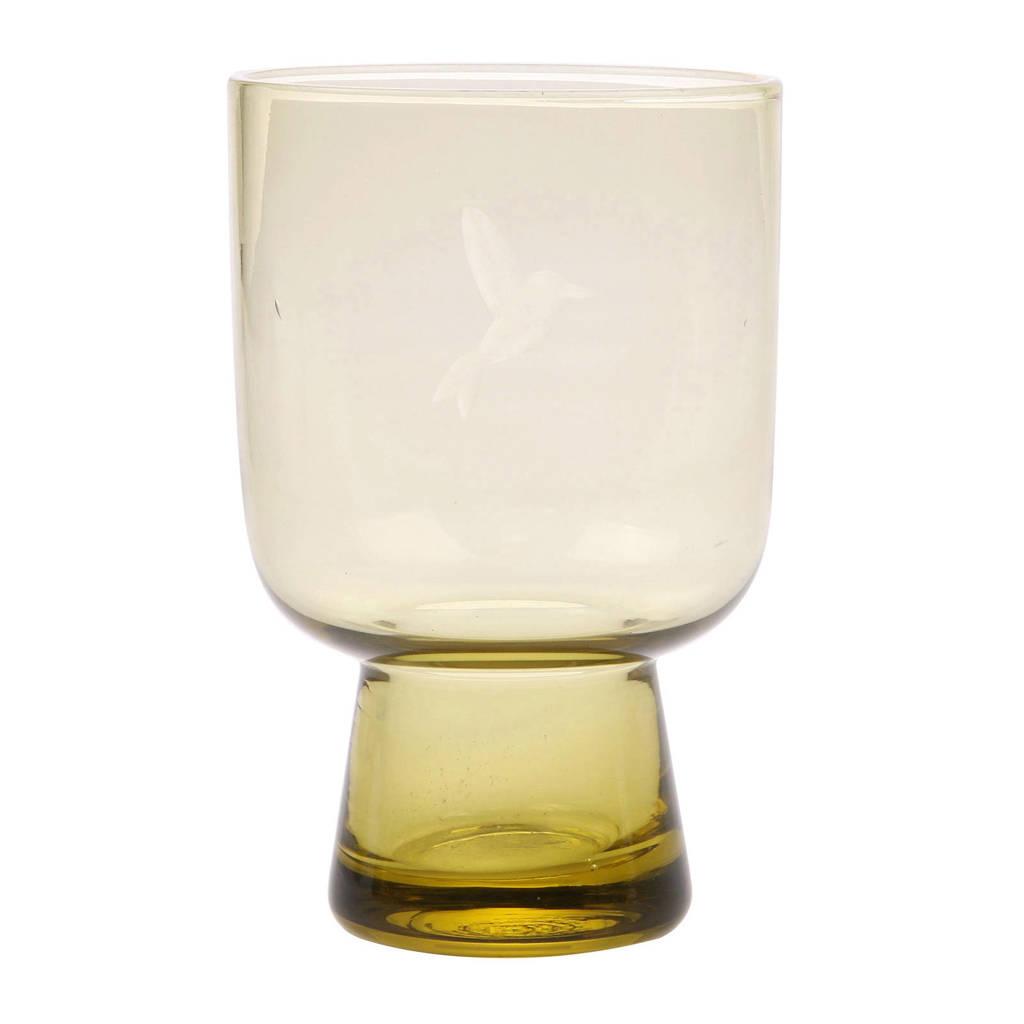 HKliving longdrink glas Chartreuse (Ø7,5 cm), Geel