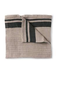 HKliving servet (45x45cm) (set van 2), Naturel/grijs