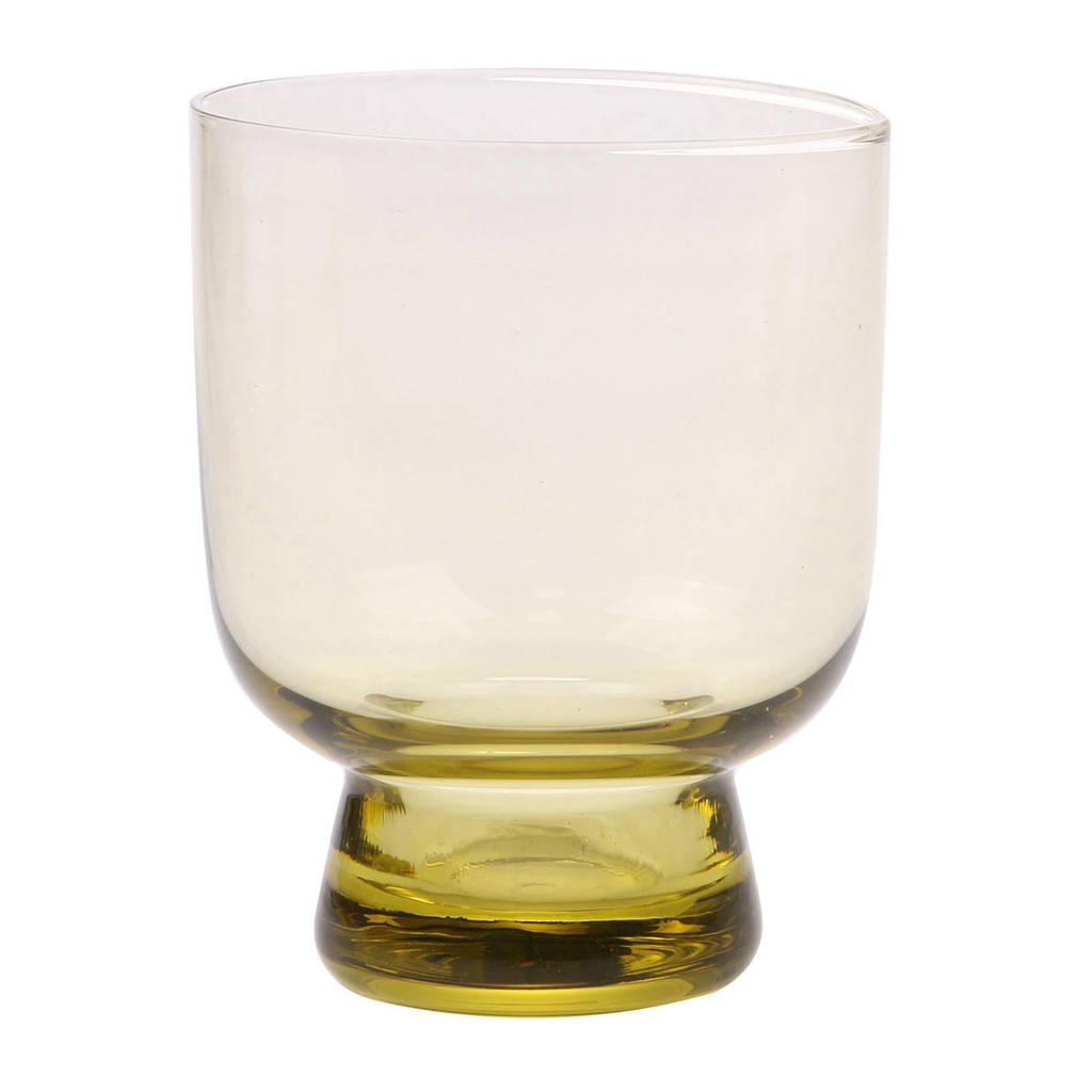 HKliving waterglas Chartreuse (Ø7,5 cm), Geel