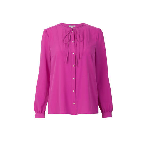Promiss blouse met strik paars