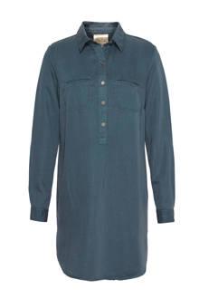 tencel blousejurk blauwgrijs