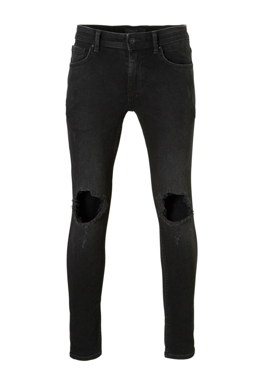 C&A Clockhouse skinny jeans zwart (heren), Zwart