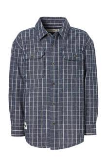 overhemd met ruiten marineblauw