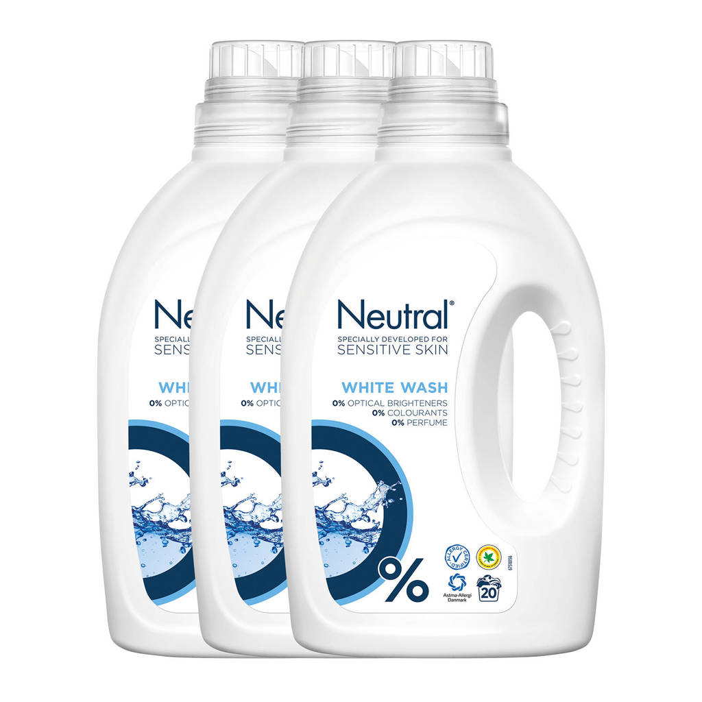 Neutral wasmiddel wit - 60 wasbeurten - vloeibaar - parfumvrij