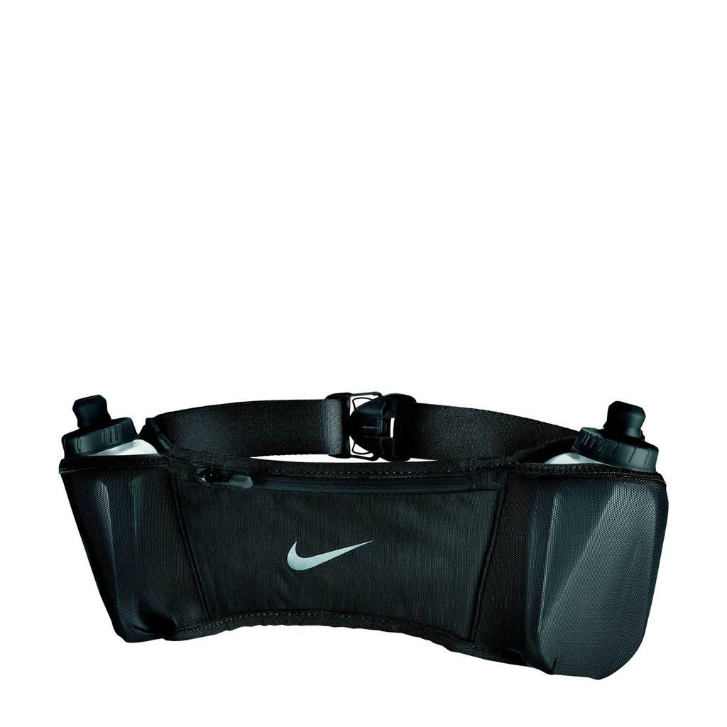 Nike heuptas Double Pocket Belt 20OZ 2.0 zwart, Zwart