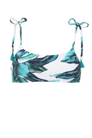 bikinitop Oahu met all over print blauw