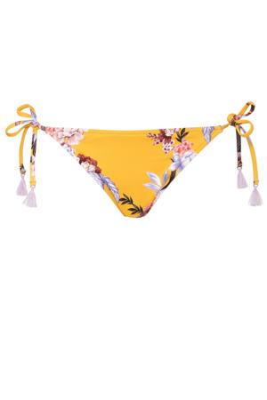 strik bikinibroekje Covent Garden met all over print geel