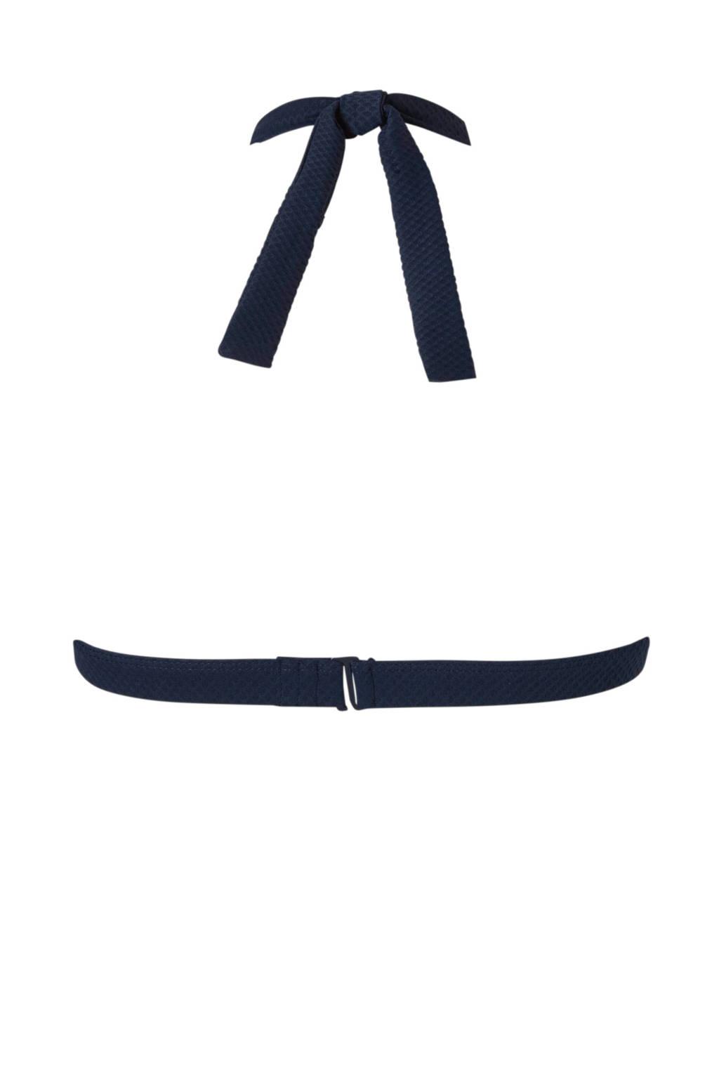 Bikinitop Met Australiahalter Baku Blauw Textuur A8F4qw5