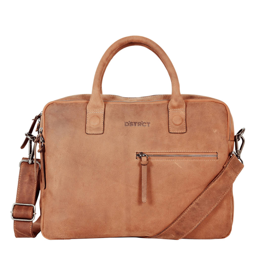 DSTRCT Limited 15,6 inch laptoptas, Cognac