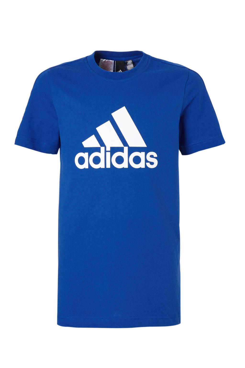 adidas performance   T-shirt, Donkerblauw/wit